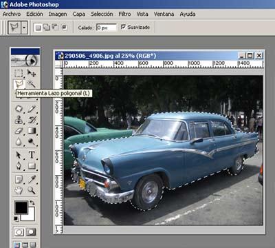photoshop coche seleccion