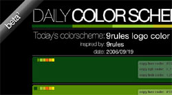 daily color schema