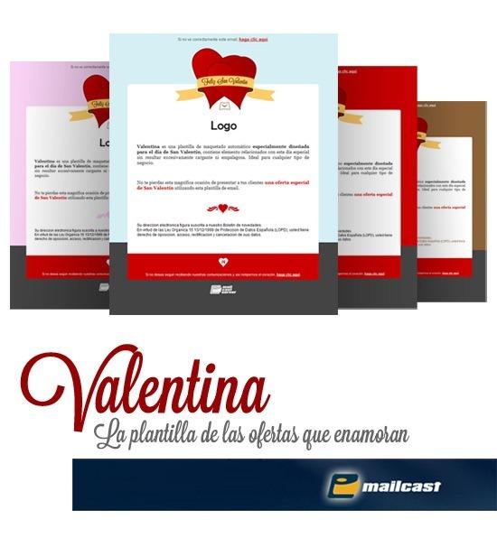 Valentina - plantilla de email San Valentín
